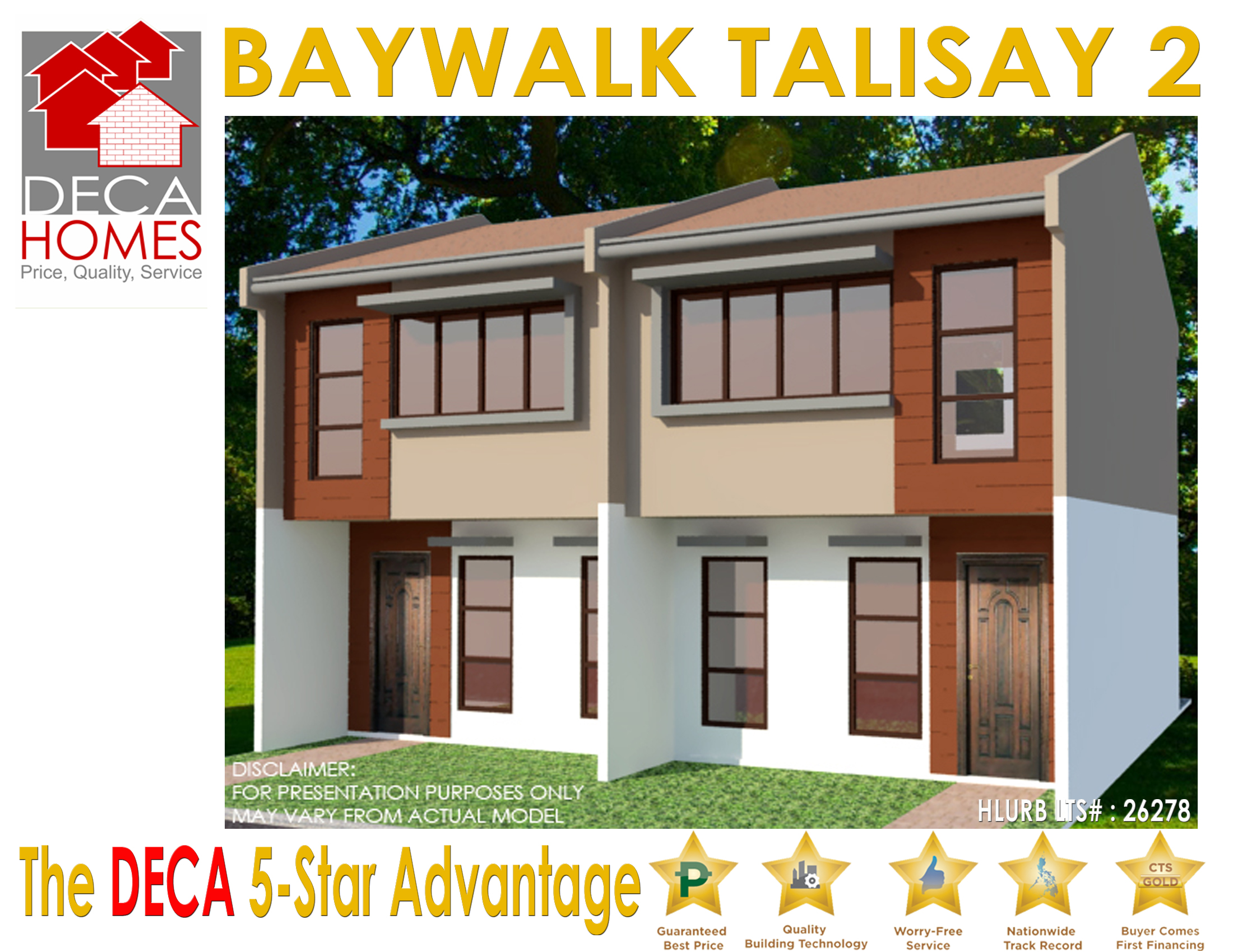 DECA HOMES BAYWALK TALISAY 2: Regular Unit Houses